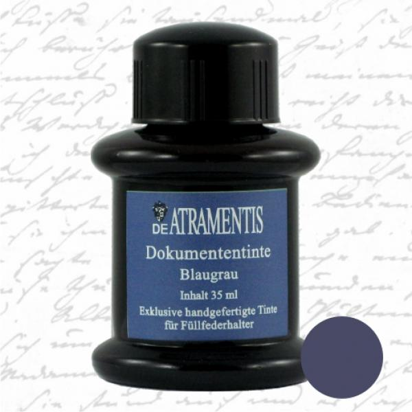Document Ink Blue Grey