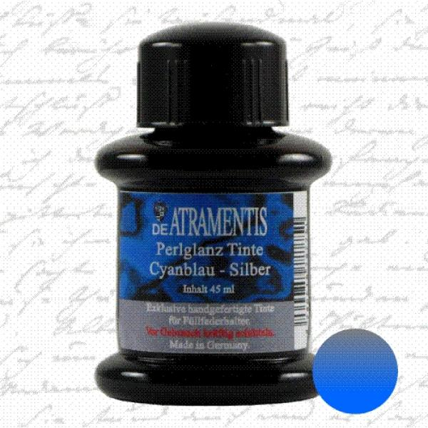 Pearlscent Ink Cyan Blue Silver