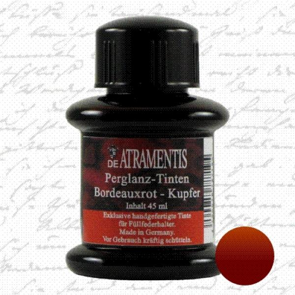 Pearlscent Ink Bordeaux Red Silver